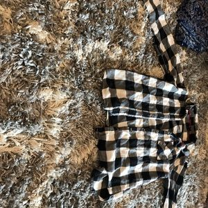 Black and white plaid button down